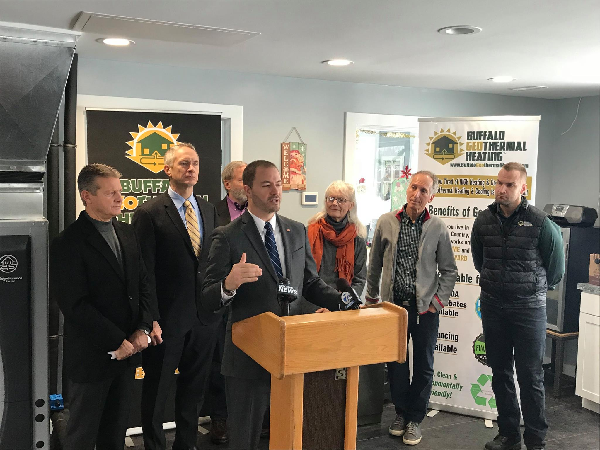 NYS Senator Patrick Gallivan, Senator Robert Ortt and Assemblyman Sean Ryan Gather at Local Business to Support Renewable Energy Image